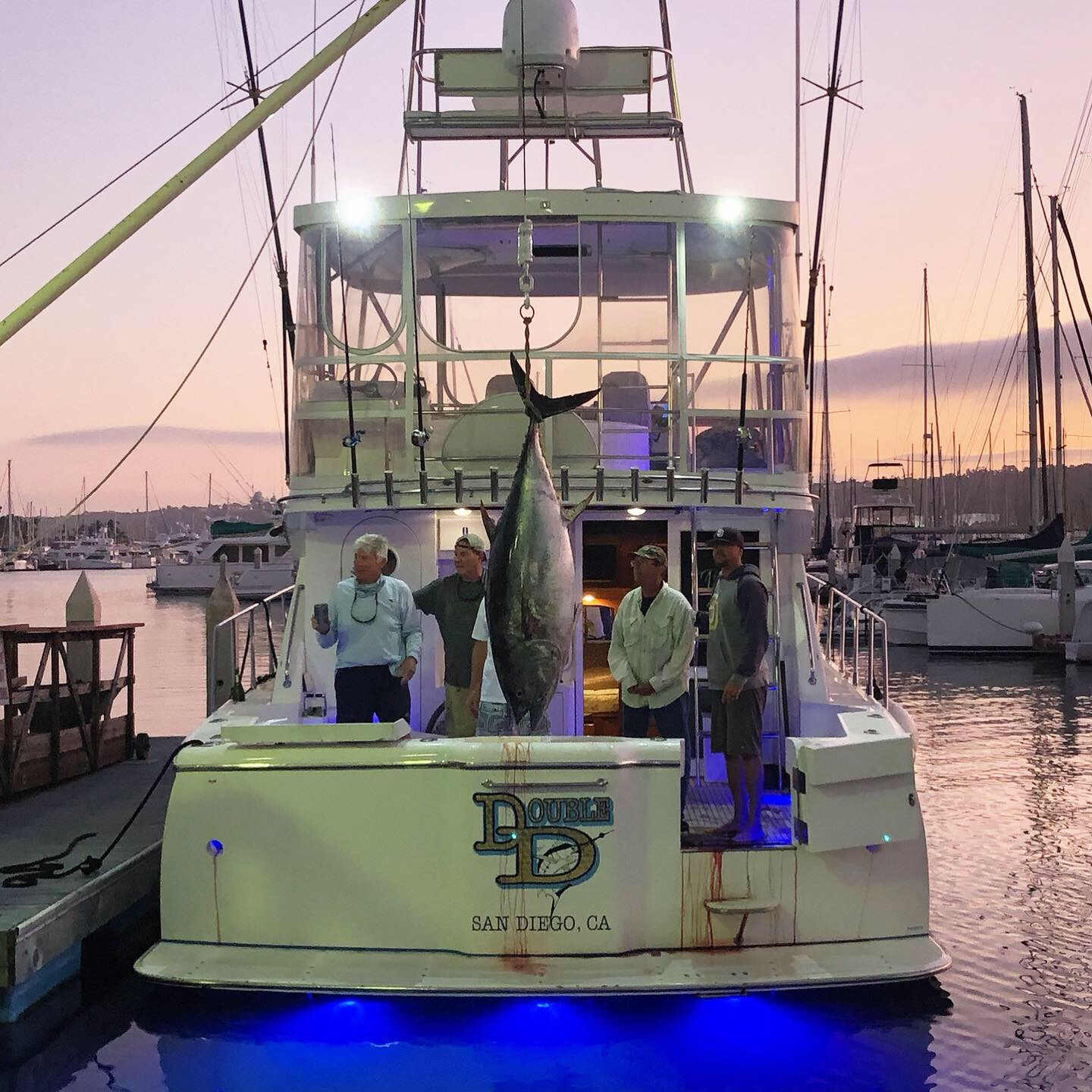 """Mikelson 43′ """"Double D"""" 292.6 Pound Bluefin Tuna Action!!"""